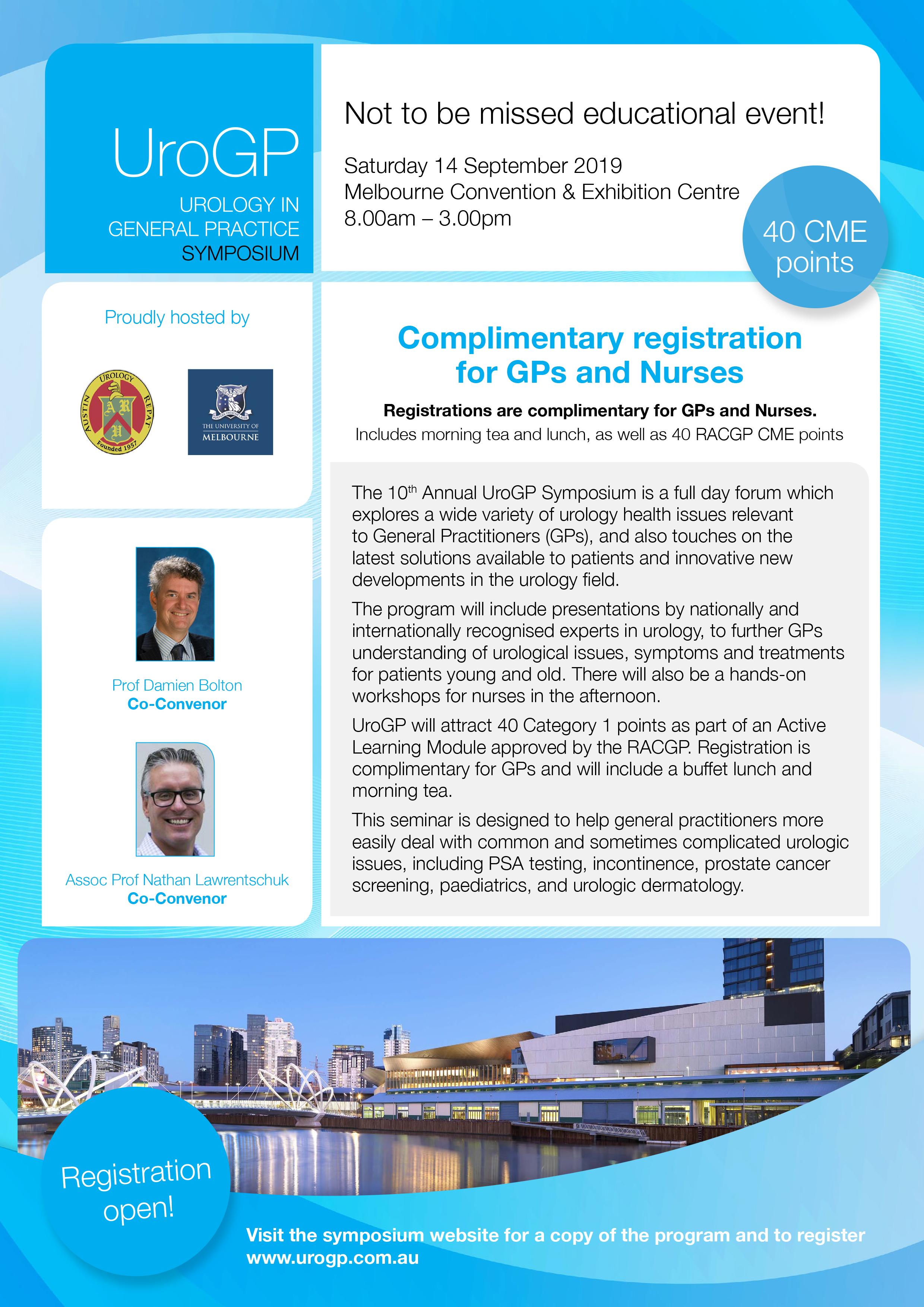 UroGP Symposium promotional flyer