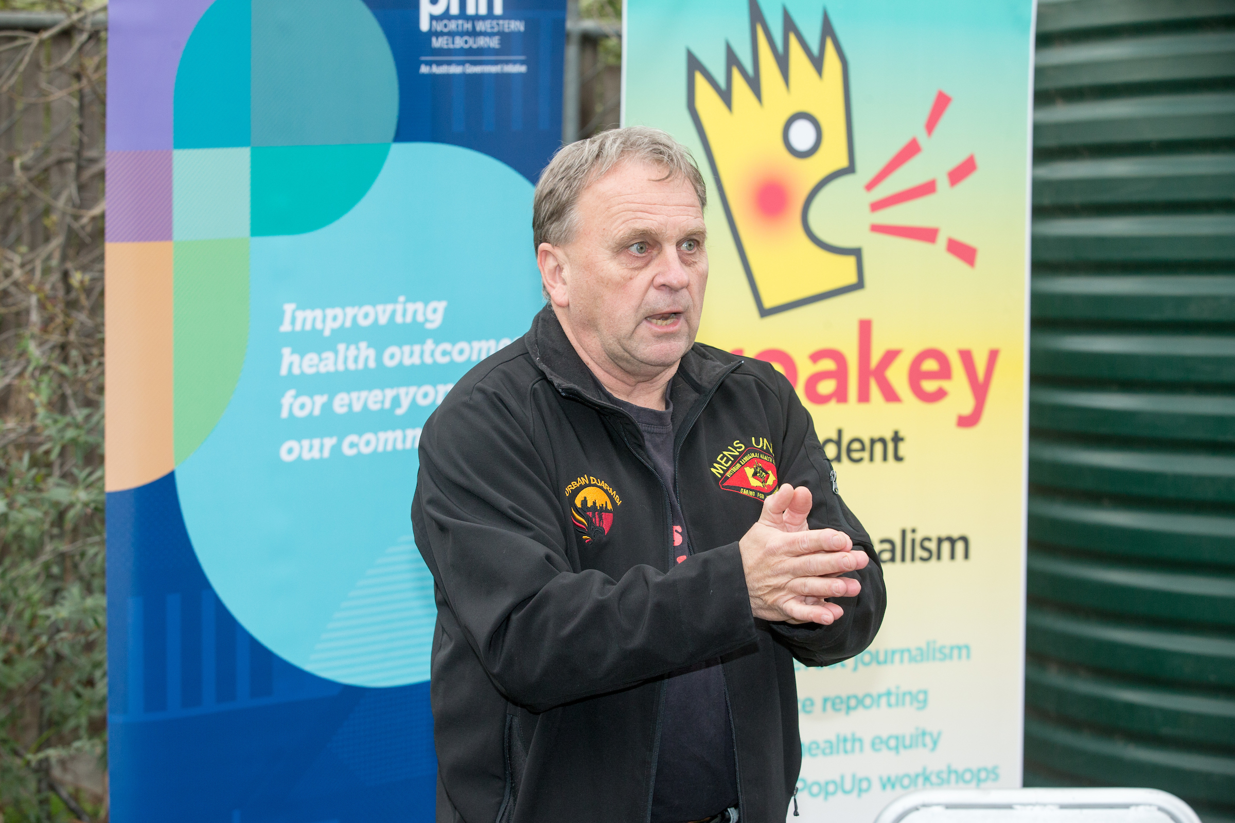 Alan Brown at the Victorian Aboriginal Health Service