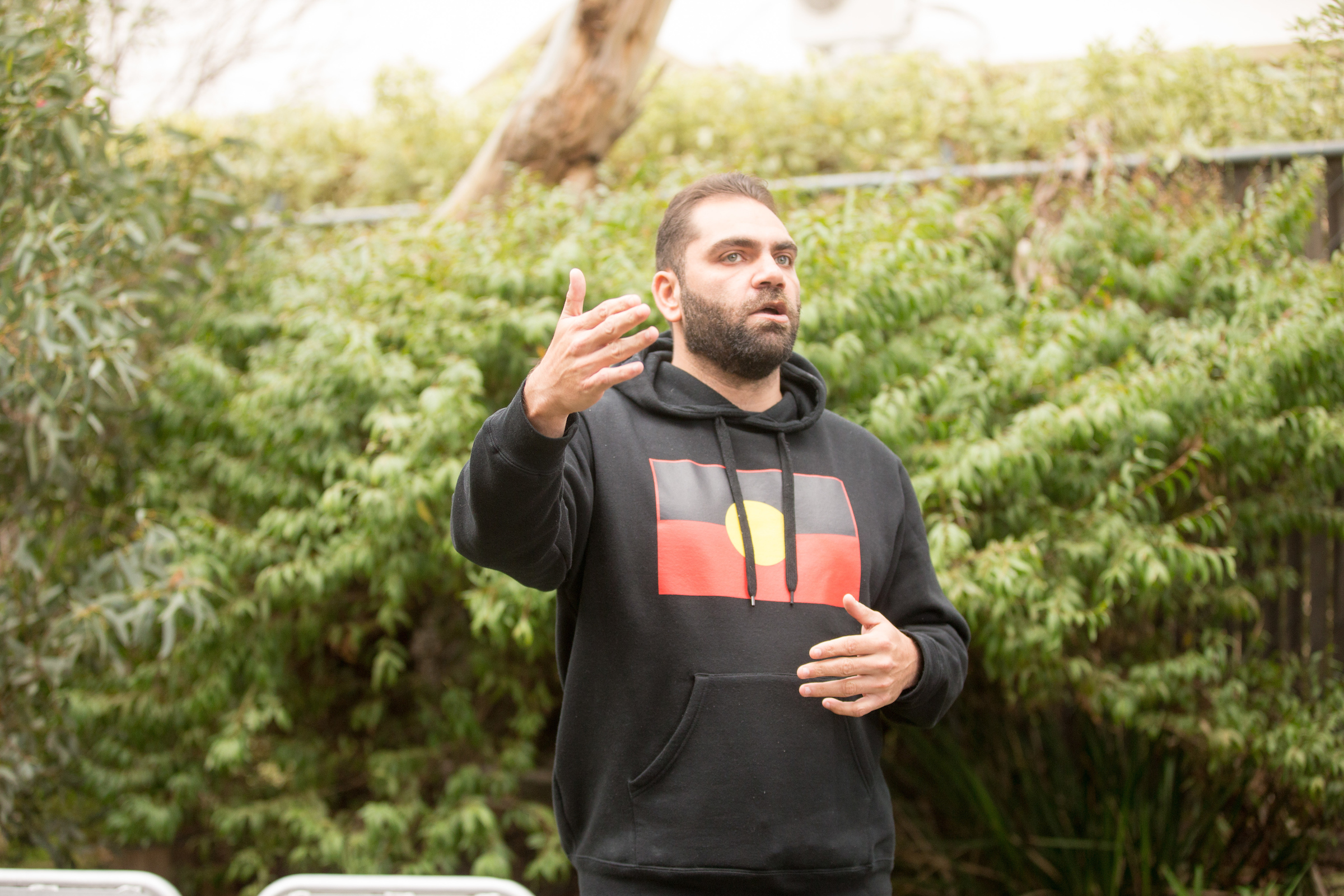 Lionel Austin at the Victorian Aboriginal Health Service