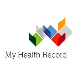 My Health Record logo.