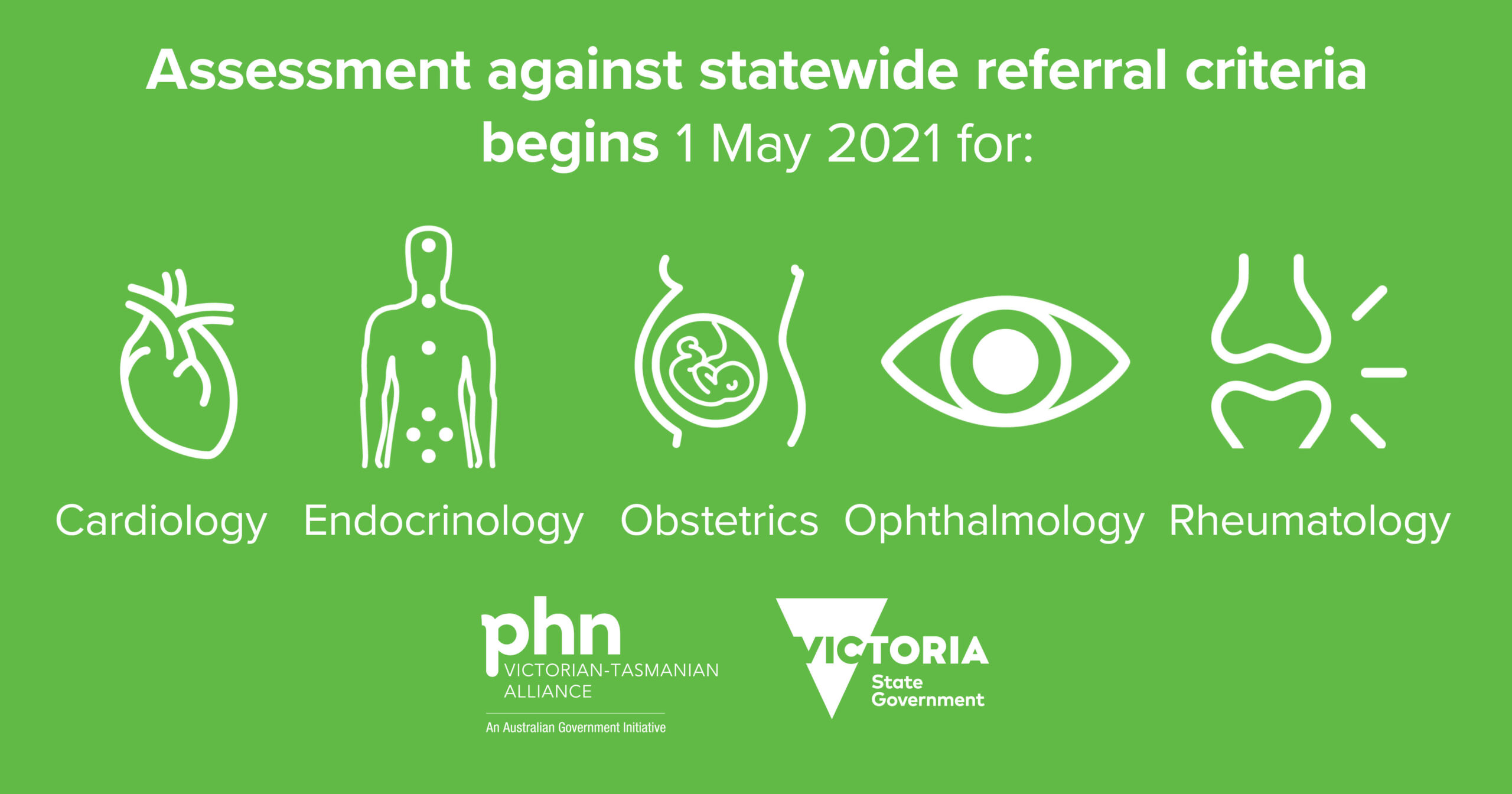 Promotional image for the batch of statewide referral criteria referred to in the article on this page.