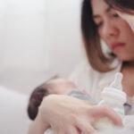 A new mother experiencing postnatal depression.