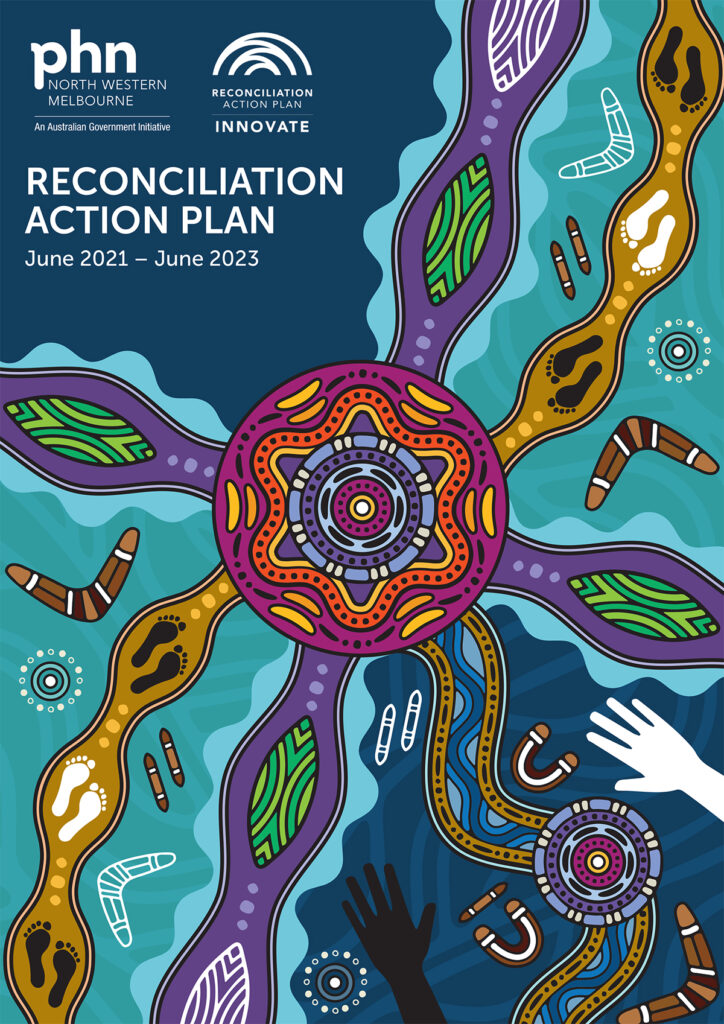 Front cover of our Innovate Reconciliation Action Plan 2021–23.