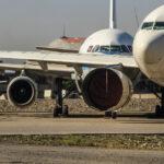 Planes preparing to leave Kabul, Afghanistan, August, 14, 2021.